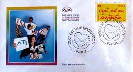 """FRANCE 3636 3637 FDC X 2 Premier Jour Messages Merci Remerciement Invitation """"i"""" Perforé - 2000-2009"""