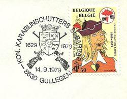 Belgium Special Day Cancel Shield Karabijnschutters St. Barbera, Gullegem 14/9/1979 - Omslagen