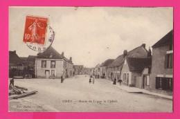CPA (Réf : Z935) CHÉU (89 YONNE) Route De Ligny Le Châtel (animée) - Altri Comuni