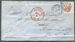 1877 GB Keswick 413 Duplex Cover - Boston, USA Via Liverpool - Storia Postale