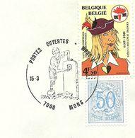 Belgium Special Day Cancel Sjongen Die Hekelzucht Inwoner Bergen Symboliseert, Mons 15/3/1980 - Auto's