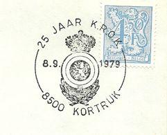 Belgium Special Day Cancel Kenteken Kring Reserveofficieren Van Kortrijk, Kortrijk 8/9/1979 - Beroepen