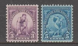 PAIRE NEUVE DES ETATS-UNIS - XES JEUX OLYMPIQUES, A LOS ANGELES N° Y&T 314/315 - Summer 1932: Los Angeles