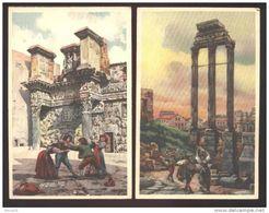 BEL LOTTO D 4 CARTOLINE INIZI 900 DI ROMA FIRMATE RAIMONDI - Illustratori & Fotografie