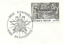 Belgium Special Day Cancel Drie Koningen, Beauvoorde 13/1/1979 - Christendom