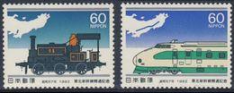 Japan Japon Nippon 1982 Mi 1515 /6 ** Steam Loc.+ Express Train- Opening Tohoku-Shinkansen Railway Line / Eisenbahnlinie - Ongebruikt