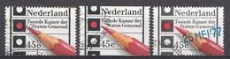 Pays-Bas 1977  Mi.nr: 1093 A+C Und 1096 Parlamentswahlen  Oblitérés / Used / Gestempeld - Periode 1949-1980 (Juliana)