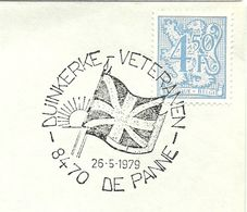 Belgium Special Day Cancel British Flag, Duinkerke Veteranen, De Panne 26/5/1979 - WO2