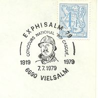 Belgium Special Day Cancel King Albert, Roi Casque, Vielsalm 7/7/1979 - Koniklijke Families
