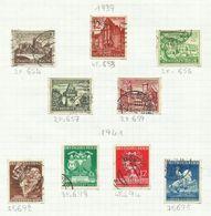 Allemagne N°653, 654, 656, 657, 659, 692 à 695 Cote 5.20 Euros - Used Stamps