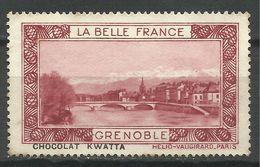 GRENOBLE , LA BELLE FRANCE , PUB Du CHOCOLAT KWATTA - Tourisme (Vignettes)