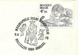 Belgium Special Day Cancel Goden Vulcanus En Mercurius En O.L. Vrouw Van De Zavel, Brussel 9/6/1979 - Christendom