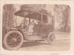 Tres Belle Photo Debut De Sciecle Format 9/12 ( Marquée Verron Eure 1909) - Voitures De Tourisme
