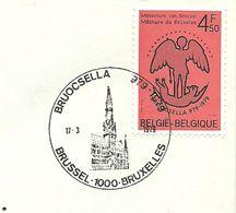 Belgium Special Day Cancel Townhal Brussel, Brussel 11/3/1979 - Monumenten