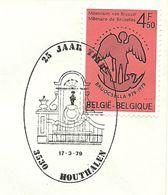 Belgium Special Day Cancel Beeld Manneke Pis Brussel, Houthalen 17/3/1979 - Porselein