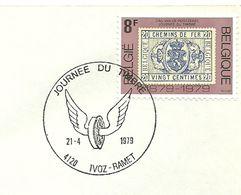 Belgium Special Day Cancel Jounee Du Timbre Gevleugeld Wiel, Ivoz Ramet 21/4/1979 - Post