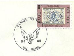 Belgium Special Day Cancel Jounee Du Timbre Gevleugeld Wiel, Marche En Famenne 21/4/1979 - Post