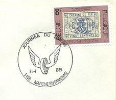 Belgium Special Day Cancel Jounee Du Timbre Gevleugeld Wiel, Nismes  21/4/1979 - Post