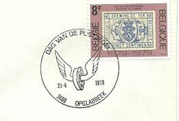 Belgium Special Day Cancel Jounee Du Timbre Gevleugeld Wiel, Opglabbeek  21/4/1979 - Post