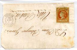 Frontal De Carta Con Matasellos Aguilas Murcia 1860 - Briefe U. Dokumente