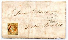 Frontal De Carta Con Matasellos Aguilas Murcia 1862 - Briefe U. Dokumente