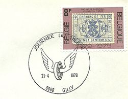 Belgium Special Day Cancel Jounee Du Timbre Gevleugeld Wiel, Gilly  21/4/1979 - Post