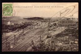 MARCHIENNE AU PONT CHEMINS DE FER DU NORD GARE DE FORMATION  Belgium   Vintage Ca. 1900 Postcard  (W4-3477) RAILWAY - Zonder Classificatie