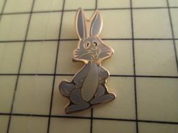 PIN311c Pin's Pins / De Belle Qualité Et Rare : ANIMAUX : LAPIN GRIS - Tiere