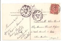 CACHETS - Aurillac, Rodez, Capdenac. - Marcophilie (Lettres)