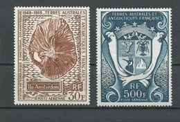 TAAF Scott C19, C23 Yvert PA21, PA22 (2) * Cote 39$ 1970 - Terres Australes Et Antarctiques Françaises (TAAF)