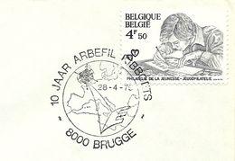 Belgium Special Day Cancel Geografische Kaart Van Europa Met Satelliet, Brugge 28/4/1979 - Aardrijkskunde