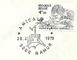 Belgium Special Day Cancel Semafoor, Namen 28/4/1979 - Brieven & Documenten