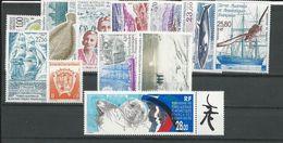 TAAF Année Complete 1995 Scott 177, 203-210, C133-C135 Yvert 194-202, PA134-PA136 (12) ** Cote 62$ 1995 - Terres Australes Et Antarctiques Françaises (TAAF)