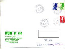 Lettre Cachet Geudertheim - Storia Postale