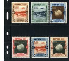 """ERITREA 1934 """"EXPO. INTERNAZIONALE, D'ARTE COLONIALE NAPOLI #C1 - C6 MH  $33.00 - Eritrea"""