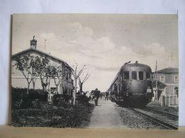 Pisa - S. Luce  - Pomaia - Macchiaverde - La Stazione -  Treno Littorina - Trasporti - 2 Scans. - Stations With Trains