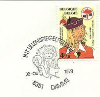 Belgium Special Day Cancel Tijl Uilenspiegel, Mirrow, Damme 2/6/1979 - Verhalen, Fabels En Legenden