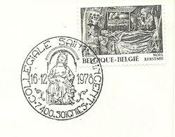 Belgium Special Day Cancel Moedermaagd Collegiale Kerk Van Zinnik, Soignies 16/12/1978 - Christendom