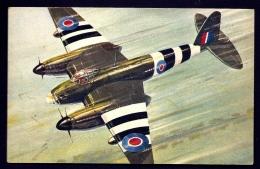 CPA AVIATION APRES GUERRE MONDIALE- BIMOTEUR MOSQUITO DE LA RAF- TRES GROS PLAN EN VOL - 1946-....: Ere Moderne