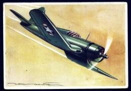 CPA AVIATION 2eme GUERRE MONDIALE-LE VOUGHY SIKORSKY CORSAIR- CHASSEUR DE PORTE AVION - 1939-1945: 2ème Guerre