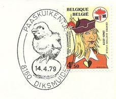 Belgium Special Day Cancel Paaskuikentje, Diksmuide 14/4/1979 - Pasen