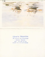 CALENDRIER LIBRAIRIE TRIANON A TOURS 1988 - Calendriers