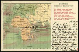 Beleg 1898, Deutsche Tiefsee-Expedition In Die Antarktis, Offizielle Expeditions-Postkarte Von Der Zwischenstation In Vi - Stamps