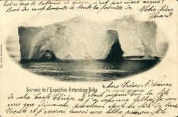 Beleg 1900, Belgische Antarktis-Expedition, Gebrauchte Foto-AK (Marke Abgefallen). - Stamps
