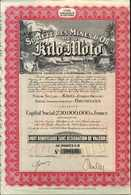 Beleg 1926/44, Seltene Minen-Aktie Der Anlage Kilo-Moto Mit Dekorat. Lithografie. - Stamps