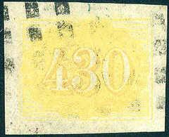 Gest. 430 R., Breitrandiges, Gestplt. Kab.-Stück, Fotobefund Eichele. (Scott 40)<br/><b>Katalogpreis: 200,-</b> (Michel: - Stamps
