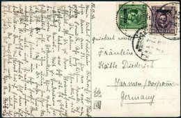 Beleg Szechuan 5 Und 10 C., Tadellose Postkarte Mit Stempel PAHSIEN Nach Dtld. (Michel: Szechuan 5,17) - Stamps