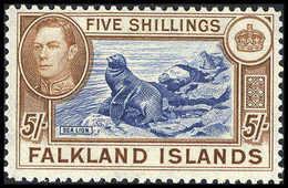 ** 5 Sh., Tadellos Postfr.<br/><b>Katalogpreis: 900,-</b> (Michel: 91b) - Stamps