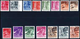 ** Gebäude, Tadellos Postfr. Serie.<br/><b>Katalogpreis: 240,-</b> (Michel: 24/38) - Stamps