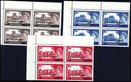 ** 2-10 R., Tadellos Postfr. Eckrand-Viererblöcke Li. Oben. (Michel: 13/15I(4)) - Stamps